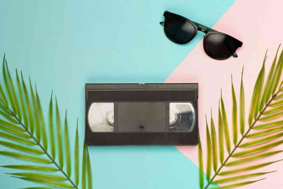 VHS cassette from the 80s