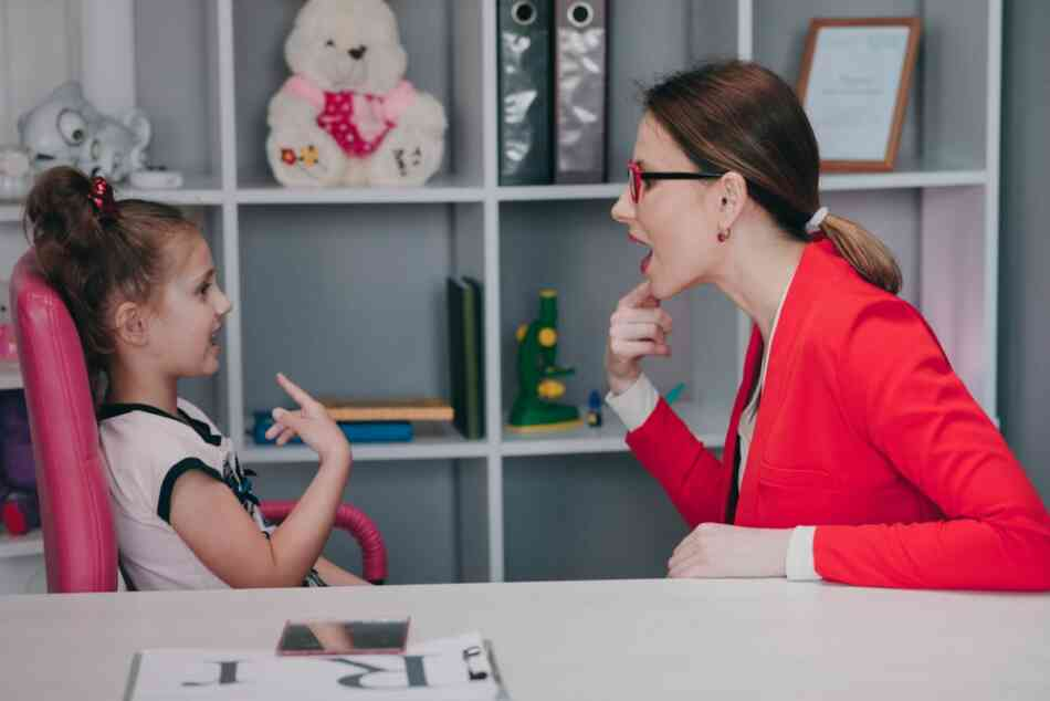 Therapist working with ASD child