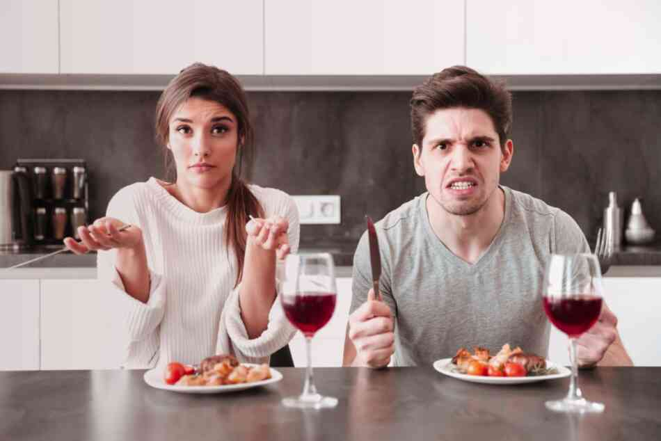Couple disagree about dinner