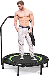ANCHEER Fitness Trampoline for Kids with Handle Bars,40'' Rebounder Trampoline