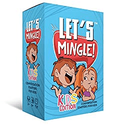 Conversation Cards | Let's Mingle Kids Card Game | Cognitive Behavioral Therapy CBT | Mindfulness Activities | Social Emotional Learning | Critical Thinking | Counseling Questions | Growth Mindset