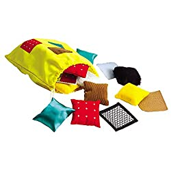 Educational Insights Teachable Touchables Textured Beanbags Squares