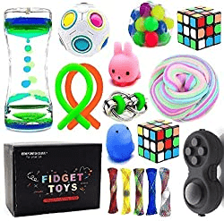 Sensory Fidget Toys Bundle-DNA Stress Relief Balls with Fidget Hand Toys for Anxiety Kids & Adults-Calming Toys for ADHD Autism Anxiety