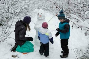 17 outdoor winter activities for kids when it is cold, raining, or snowing