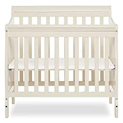 4-in-1 Convertible Mini Crib in French White