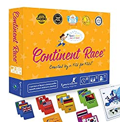 Continent Race Geography for Kids Card Game