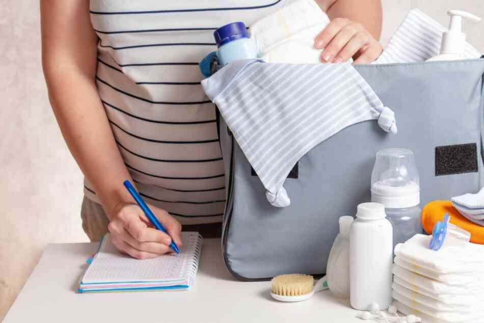 an organized mom and her diaper bag