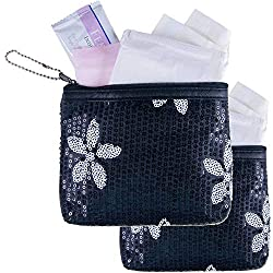 First Period Kit to-go! (Period Starter Kit with Organic Pads) - 2 Pack (Black)