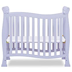 Dream On Me, Violet/Piper 4-in-1 Convertible Mini Crib in Lavender Ice, Greenguard Gold Certified