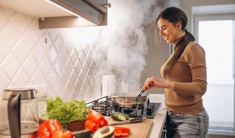 Woman Cooking Food