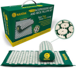 Home Neck and Back Pain-Relief-Acupressure-Mat-and-Neck-Pillow-Set-Relieves-Stress-and-Sciatic-Pain
