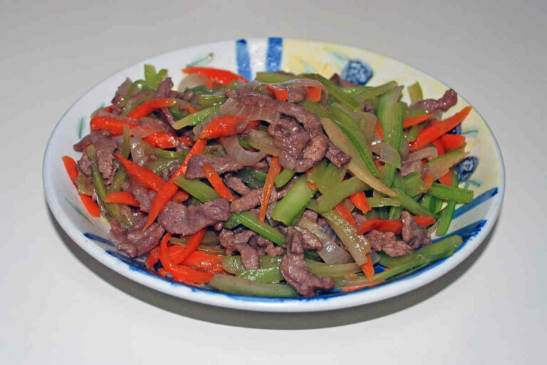 Beef and peppers freezer meal