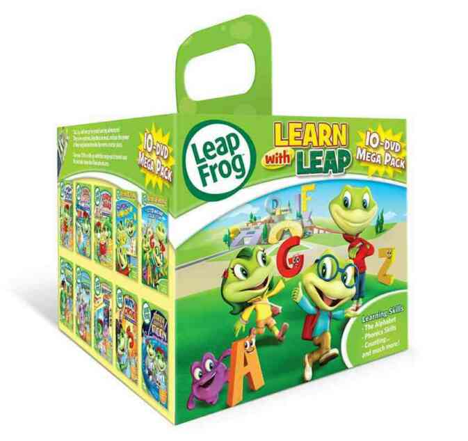The Leap Frog learning DVDs