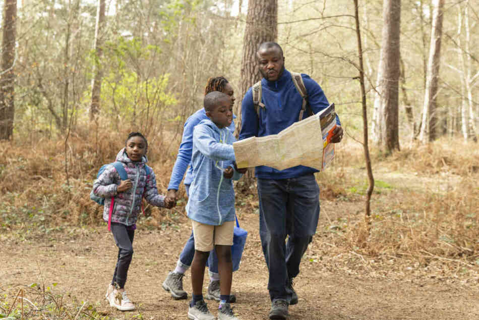family looking for nature places for camping trip